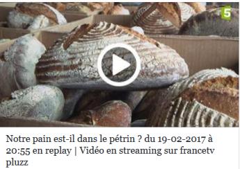 Emission sur france 5 sur le pain et sa composition